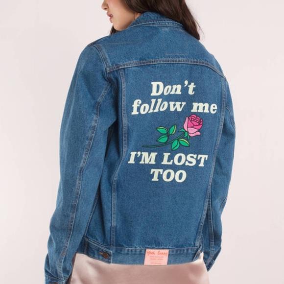 Nasty Gal Jackets & Blazers - Yeah Bunny Don't Follow Me Jean Jacket